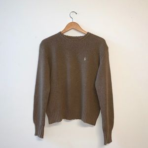 Polo by Ralph Lauren Light Brown Crewneck Sweater